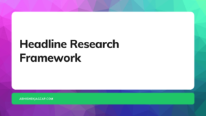 content writing framework headline reasearch.