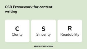clear, sincere, readable content writing framework